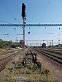 Train station, signal and buffer, 2018 Dombóvár.jpg