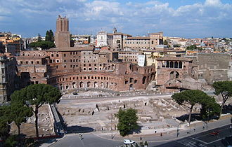 Imperial fora - The forum of Trajan and the visible part of the Trajan's market
