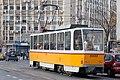 Tram in Sofia near Macedonia place 2012 PD 057.jpg