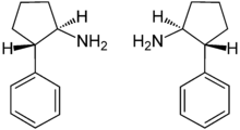 Trans - (±) Cypenamine Enantiomers Structural Formulae.png