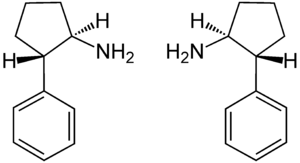 Cypenamine - Image: Trans (±) Cypenamine Enantiomers Structural Formulae