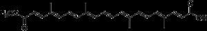 Bixin - Chemical structure of trans-bixin
