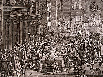 1658 in Denmark - The peace banquet at Frederiksborg Castle following the signing of the Treaty of Roskilde on 26 February