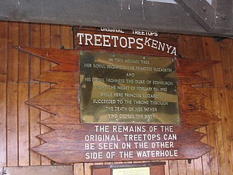Treetops Hotel - Commemorative Plaque at the Treetops Hotel (2005)