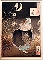 Tsukioka yoshitoshi, 100 vdute della luna, il pianto della volpe, 1886.jpg