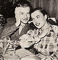 Turhan Bey and Ella Raines at Ciro's, 1946.jpg