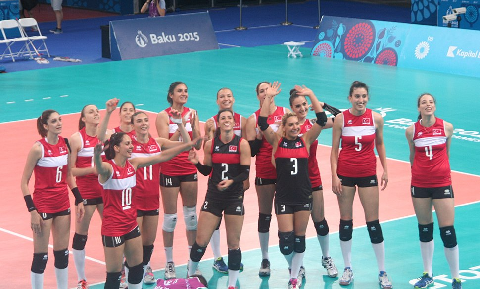 Turkey women%27s volleyball are the winners of the 2015 European Games 5