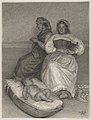 Two Seated Italian Women with a Baby in a Cradle MET DP854829.jpg