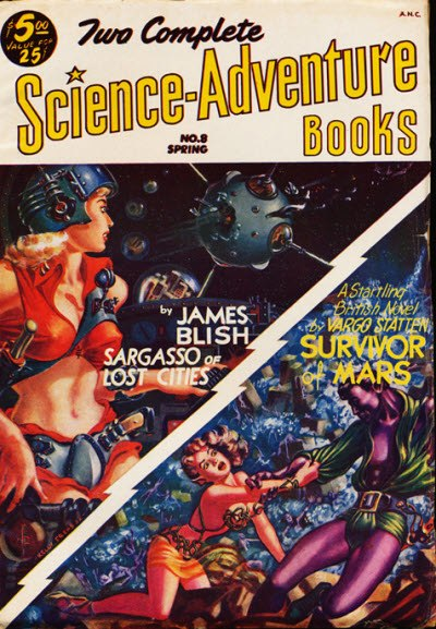 Two complete science adventure books 1953spr n8