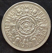 1955 Five Shilling Coin Value http://en.wikipedia.org/wiki/Two_shillings_(British_coin)