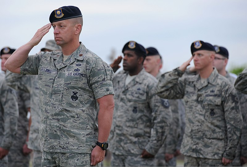 File:U S  Airmen with the 97th Security Forces Squadron