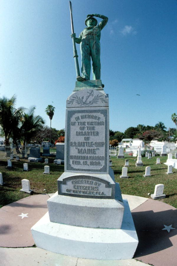 U.S. Battleship Maine Monument Key West Cemetery, Florida