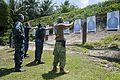 U.S. Sailors participate in a weapons qualification course at Naval Support Facility Diego Garcia, British Indian Ocean Territory, Oct. 31, 2013 131031-N-XW558-200.jpg