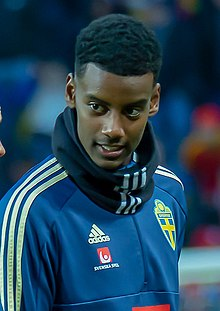 UEFA EURO qualifiers Sweden vs Romaina 20190323 Alexander Isak (cropped).jpg