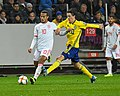 UEFA EURO qualifiers Sweden vs Spain 20191015 Thiago Alcantara and Kristoffer Olsson.jpg