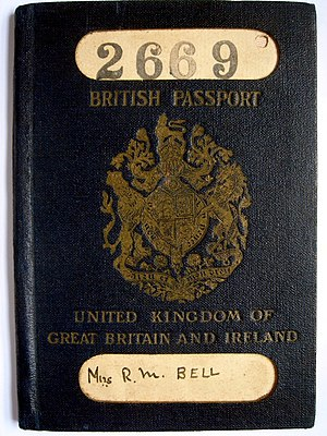 Ireland–United Kingdom relations - A 1924 passport, issued after the secession of the Irish Free State, bearing the name United Kingdom of Great Britain and Ireland. The Irish Free State also issued passports from 1924 onwards.
