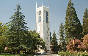 University of the Pacific (United States) - Burns Tower on the Stockton campus