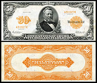 $50 Gold Certificate, Series 1913, Fr.1199, depicting Ulysses Grant