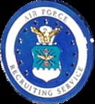 USAF Recruiting Service Certified Recruiter Badge