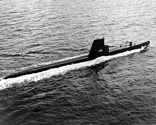 1971-1982 Balao Guppy II class submarine of the Argentine Navy