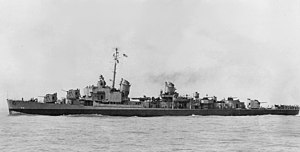 USS New (DD-818) off Orange TX in April 1946.jpg