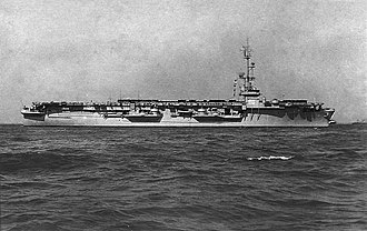 USS Salerno Bay - Image: USS Salerno Bay (CVE 110) in the 1950s