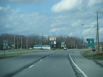 U.S. Route 13 in Delaware - US 13 northbound at southern terminus of DE 71 near Townsend