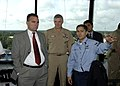 US Navy 030820-N-4294K-003 Air Traffic Controller 2nd Class Scott Howe speaks about the new Air Traffic Control Tower.jpg