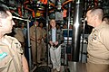 US Navy 040227-N-9662L-063 Gordon R. England, Secretary of the Navy, speaks to Sailors on board the Los Angles-class attack submarine USS Charlotte (SSN 766) pier side on board Naval Submarine Base Pearl Harbor, Hawaii.jpg