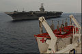 US Navy 050203-N-8796S-044 USS Abraham Lincoln (CVN 72) comes alongside the Military Sealift Command (MSC) hospital ship USNS Mercy (T-AH 19) in the Indian Ocean.jpg