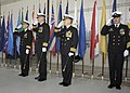 US Navy 060224-N-6060O-161 Distinguished guest and leadership salute the colors during the change of command ceremony for Carrier Air Wing Two (CVW-2) on board Naval Air Station Lemoore.jpg