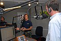 US Navy 070627-N-4440L-018 U.S. Navy SEAL, Lt. Ed Rohrbach, goes on the air with WTKK radio talk show host Michael Graham, to promote the Navy SEAL Trident Challenge.jpg