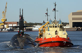 Naval Submarine Base Kings Bay - Image: US Navy 090109 N 1841C 028 The ballistic missile submarine USS Rhode Island (SSBN 740) is escorted by tug boats to her berth at Naval Submarine Base Kings Bay, Ga