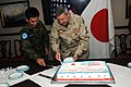 US Navy 100119-N-6832D-395 Rear Adm. T. C. Cropper, deputy commander of U.S. Central Command and Japan Maritime Self-Defense Force Cmdr. Eiji Imanishi prepare.jpg