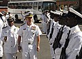 US Navy 110214-N-5085J-092 Vice Adm. Harry B. Harris Jr., commander of the U.S. 6th Fleet, inspects South African navy sailors during a visit to me.jpg
