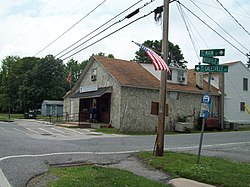 The U.S. Post Office at Galesville, Maryland, in May 2010
