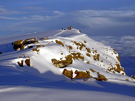 The snowcapped Uhuru Peak Uhuru Peak Mt. Kilimanjaro 1.JPG