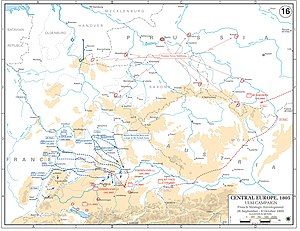 Ulm campaign - French strategic envelopment, 26 September-9 October 1805.jpg