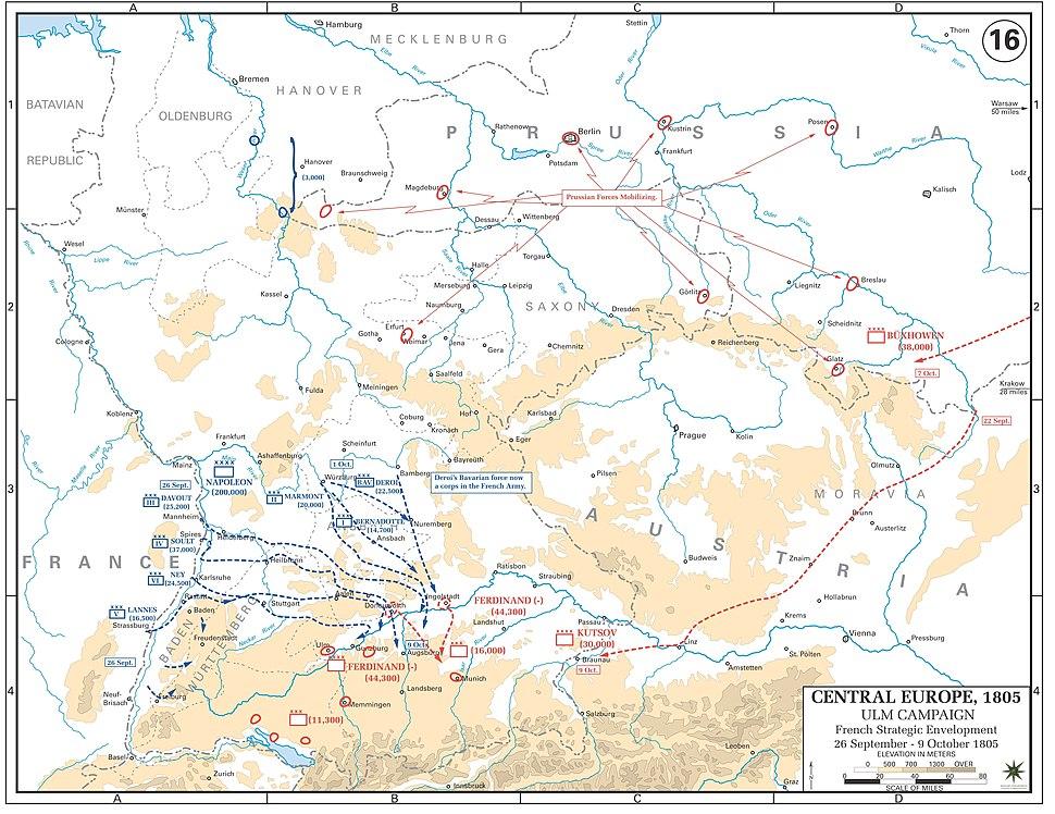 Ulm campaign - French strategic envelopment, 26 September-9 October 1805