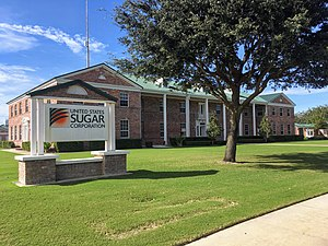 Headquarters of U.S. Sugar in Clewiston, Florida