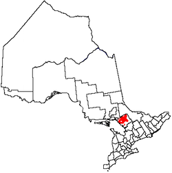 Location of Unorganized Centre Parry Sound District