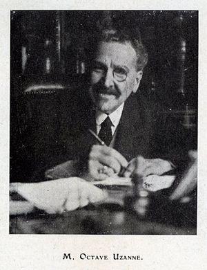 Octave Uzanne - Photography 1928 when he was 77, published in the journal L'Imprimerie et la pensée moderne (1928).