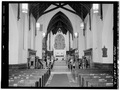 VIEW DOWN NAVE TOWARDS APSE - Church of the Holy Cross, Eighth and Grand Streets, Troy, Rensselaer County, NY HABS NY,42-TROY,10-2.tif