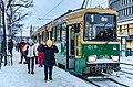 Valmet Nr II tram in Helsinki city centre, 2021 January.jpg