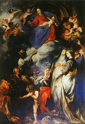 Our Lady of the Rosary - The Madonna of the Rosary by Anthony van Dyck