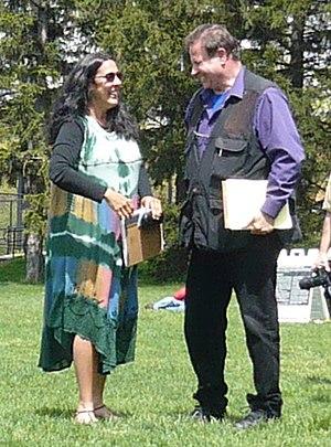 John Filo - Mary Ann Vecchio meeting John Filo at Kent State University, May 2009