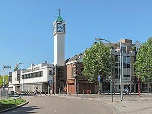Veenendaal - Image: Veenendaal, straatzicht met toren foto 3 2012 05 27 11.11