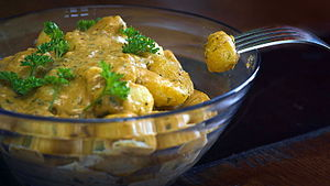Vegan cheese - Image: Vegan cheese gnocchi, July 2015