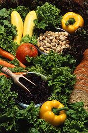 A variety of vegetarian ingredients