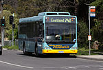 Photo of Ventura bus no. 895 rego 5972AO on route 742 picks up passengers at Heatherdale, 2009.